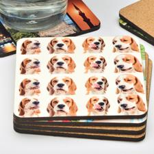 16 Collage Photo Personalized Cork Coaster