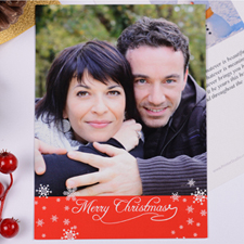 Personalized Christmas Red Invitation Card
