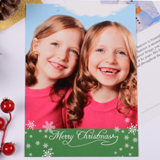 Personalized Christmas Green Invitation Card