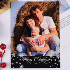 Personalized Christmas Black Invitation Card