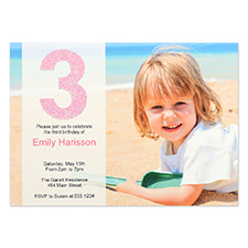 Personalized Having Fun Girl Invitation Card