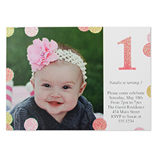 Personalized Favorite Girl Real Glitter Personalized Birthday Card
