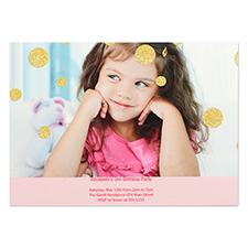 Personalized Confetti Girl Party Invitation Card