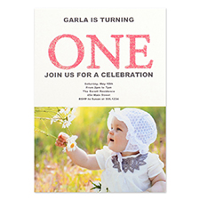 Personalized A Fun One Girl Party Invitation Card