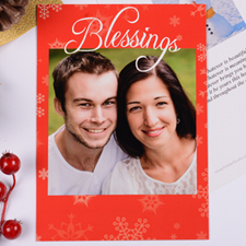 Personalized Blessing, Red Party Invitation Card