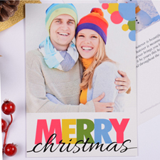 Personalized Colorful Christmas Dots Party Invitation Card
