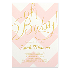 Personalized Oh Baby! Party Invitation Card