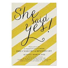 Personalized She Say Yes Party Invitation Card