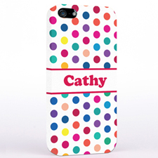 Personalized Fuchsia Colorful Polka Dot iPhone Case