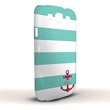 Design Your Own Aqua Stripe Red Anchor Samsung Phone Case Cover