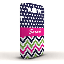 Design Your Own Colorful Chevron Black & White Polka Dots Samsung Phone Case Cover