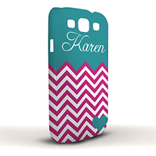 Design Your Own Aqua Turquoise Chevron Samsung Phone Case Cover