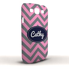 Design Your Own Grey & Carol Chevron Samsung Phone Case Cover