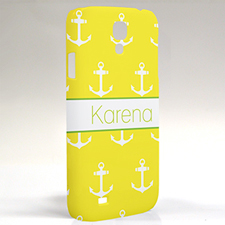 Custom Design Yellow Anchors Samsung Phone Case