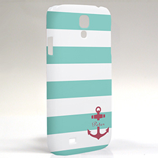 Custom Design Aqua Stripe Red Anchor Samsung Phone Case