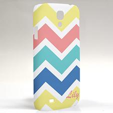 Custom Design Yellow Carol Blue Chevron Samsung Phone Case