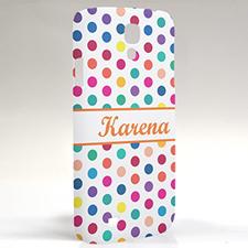 Custom Design Orange Colorful Polka Dots Samsung Phone Case