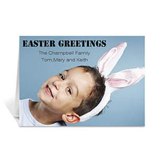 Personalized Easter Photo Greeting Cards, 5X7 Folded