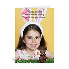 Personalized Easter Photo Greeting Cards, 5X7 Portrait Folded