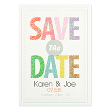 Personalized Colored Date Save The Date Cards