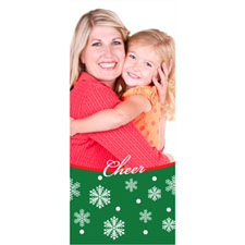 Personalized Cheer Snowflake Lenticular Bookmark