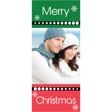Personalized Merry Snowflake Christmas Lenticular Bookmark