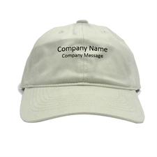 Custom Imprint Baseball Cap Company Name, Light Khaki