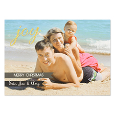 Personalized Joy Glitter Invitation Cards