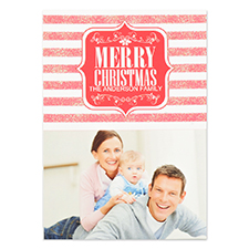 Personalized Merry Christmas Shine Invitation Cards