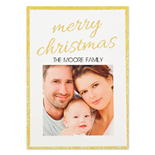 Personalized Glitter Christmas Invitation Cards