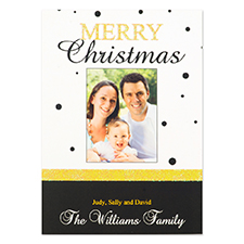 Personalized Polka Dots Merry Christmas Invitation Cards