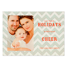 Personalized Glitter Chevron Invitation Cards