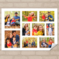 Personalized Poster Print With White Nine Collage