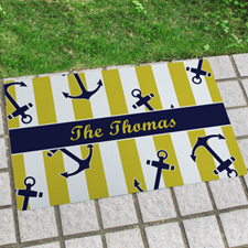 Anchor Personalized Name Door Mat