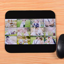 Personalized Black 12 Collage Mouse Pad