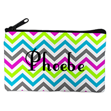 Personalized Colorful Chevron Cosmetic Bag (4