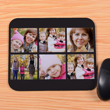 Personalized Black 6 Collage Mouse Pad