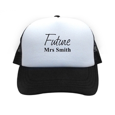Future Mrs Personalized Trucker Hat, Black