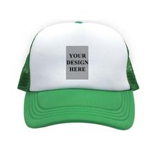 Portrait Image And Message Custom Trucker Hat, Green