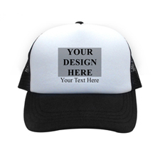 Landscape Image & Message Custom Trucker Hat, Black
