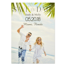 Clean Style Personalized Save the Date