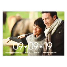 Two Hearts Personalized Save the Date
