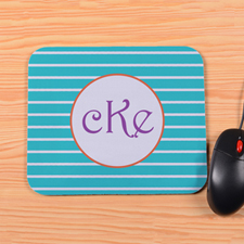Personalized Peacock Stripe Mouse Pad