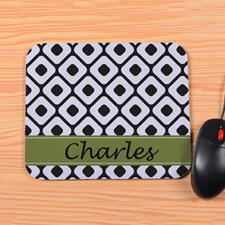 Personalized Forest Diamond Mouse Pad