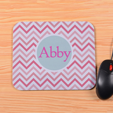 Personalized Colorful Carol Chevron Mouse Pad