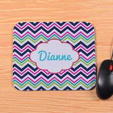 Personalized Colorful Chevron Mouse Pad