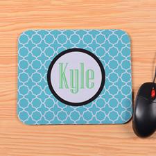 Personalized Aqua Clover Mouse Pad
