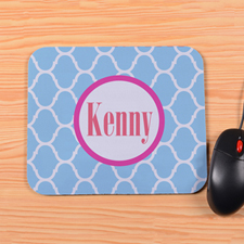 Personalized Ocean Moroccan Mouse Pad