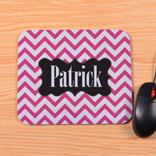 Personalized Carol Chevron Mouse Pad