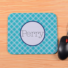 Personalized Peacock Interlock Mouse Pad